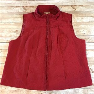 Dress Barn Dark Red Vest 22/24